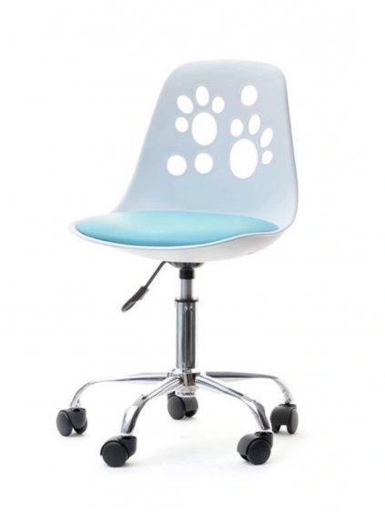 Detská stolička k písaciemu stolu Labky modrá 04