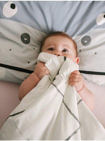 Set detskej bavlnenej prikrývky s vankúšom Bimbla 08