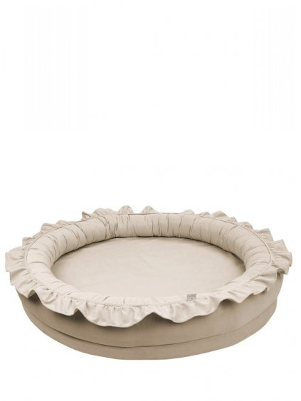 Detské hniezdo okrúhle Cotton&Sweets Beige 01
