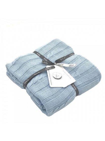 Bavlnená modrá deka Little Baby