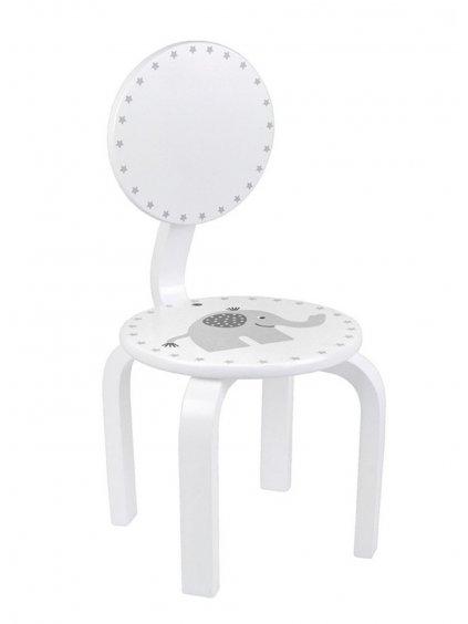 Detská drevená stolička Sloník z masívu 09
