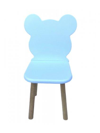 Buková stolička Macko Babe babyblue 1