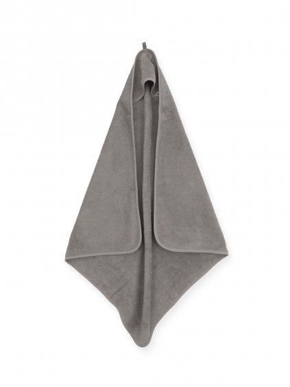 Uterák Frotté s kapucňou Jollein 75x75 cm sivý
