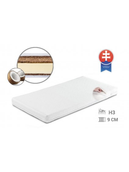 Detský kokosový matrac Baby coco 140x70x9 cm 00