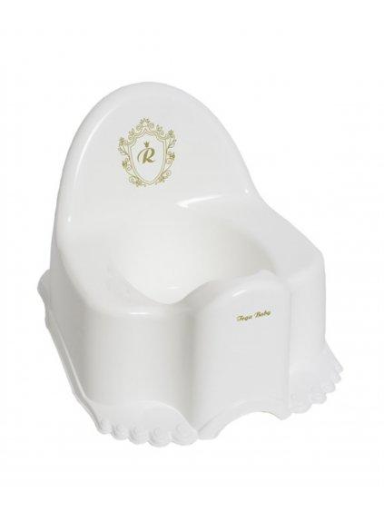 Biely nočník hrajúci zlatý eco Royal baby Tega 01
