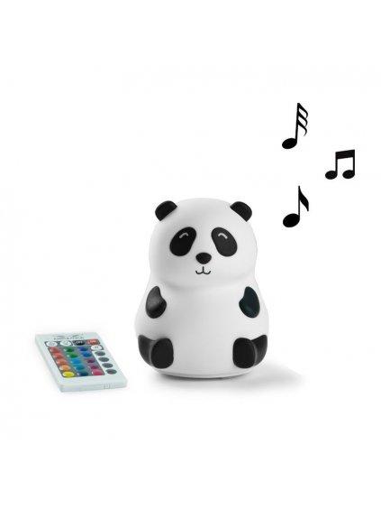 Silikónová lampička Panda s hudbou a ovládacím pilotom