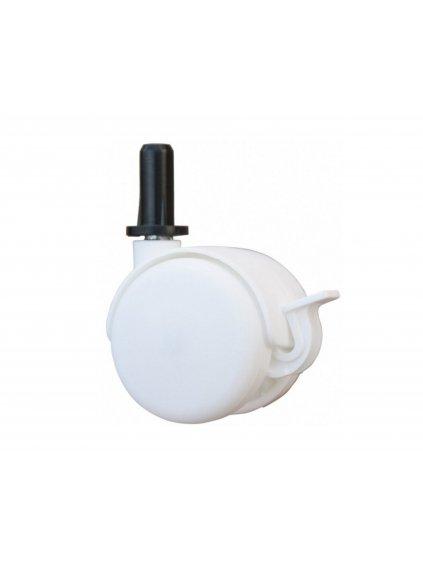 Biele kolieska do detskej postieľky so stahovacou bočnicou s bezpečnostným AT systémom