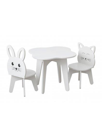 Set detský stolík a 2 kresielka cat and rabbit 0