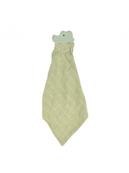Tikiri Safari Krokodíl maznáčik z prírodnej gumy a bio bavlny