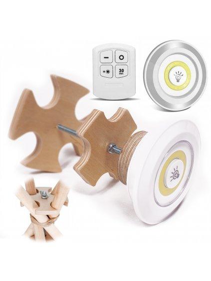 Teepee stabilizátor + LED Lampa s ovládačom