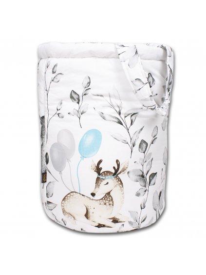 Obojstranný kôš na hračky Bambi Sivý