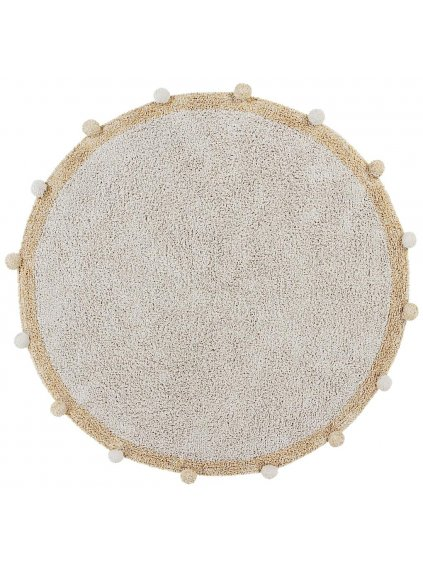 Detský bavlnený koberec Lorena Canals Ø 120 Cm Bubbly Natural Honey