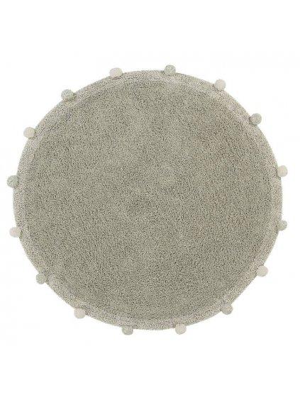 Detský bavlnený koberec Lorena Canals Ø 120 Cm Bubbly Olive Natural