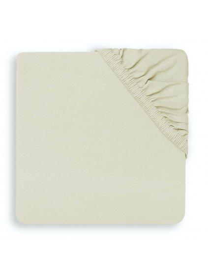 Detská bavlnená plachta Jollein 40x80:90 Ivory
