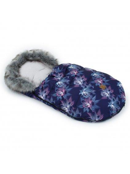 Mamo Tato Zimný fusak s kožušinkou, 50 x 100cm Kvety Neon