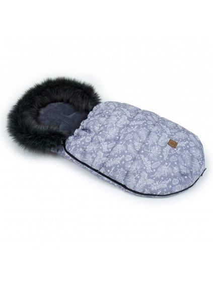 Mamo Tato Zimný fusak s kožušinkou, 50 x 100cm Les