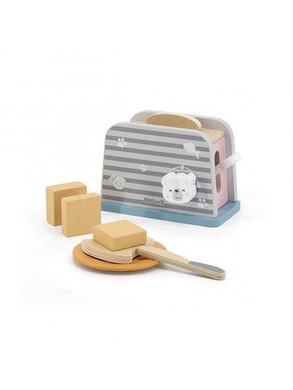 Viga PolarB drevený toastovač s doplnkami