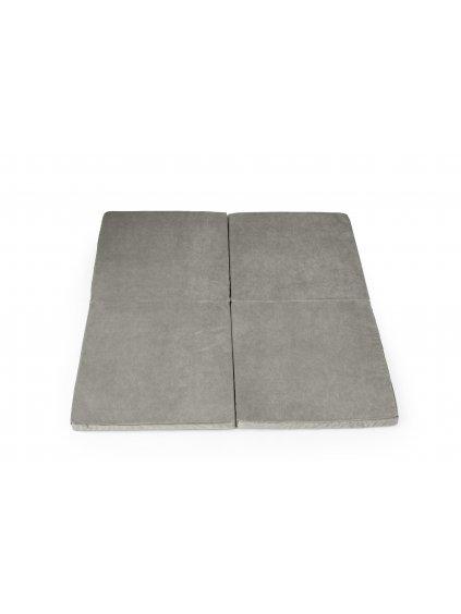 Hracia podložka Square x4 sivá 3