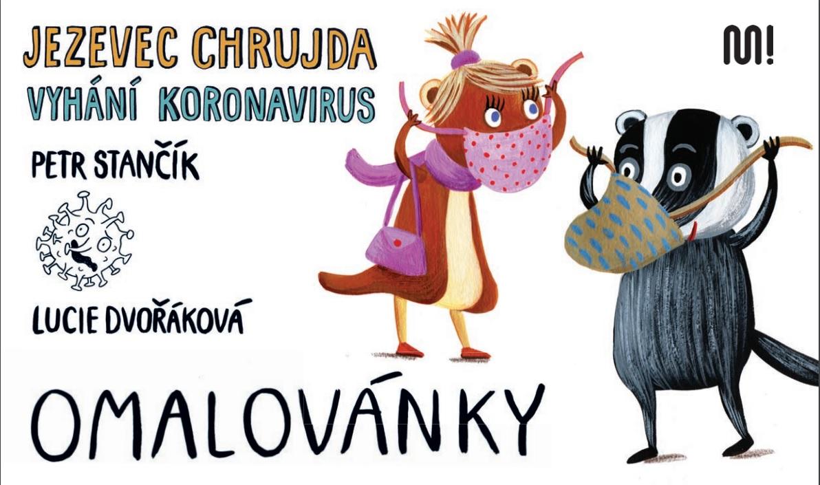 Omalovánky - Jezevec Chrujda vyhání koronavirus