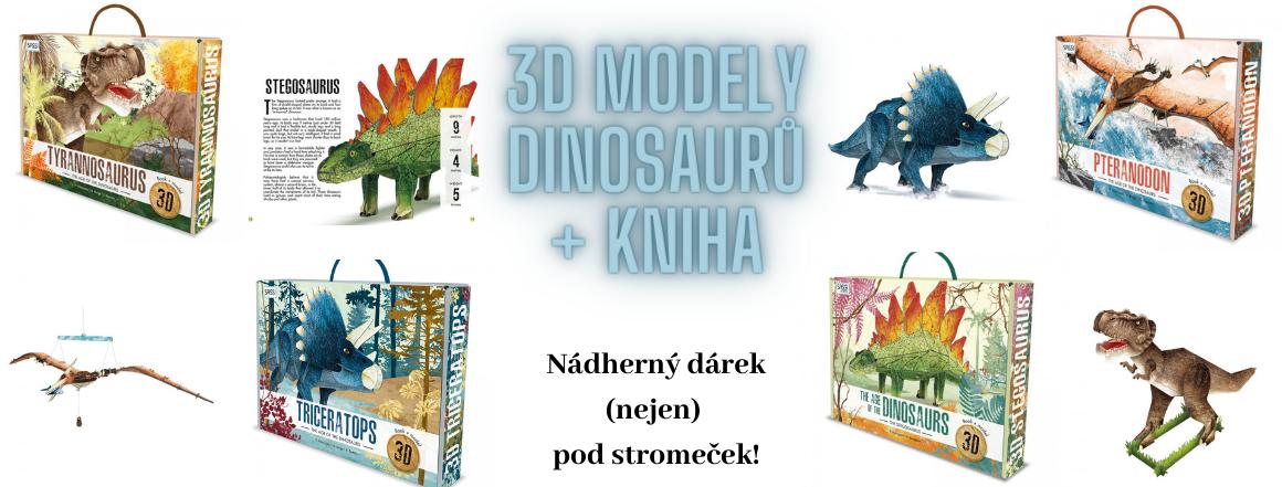 3D modely dinosaurů - krásný dárek pod stromeček