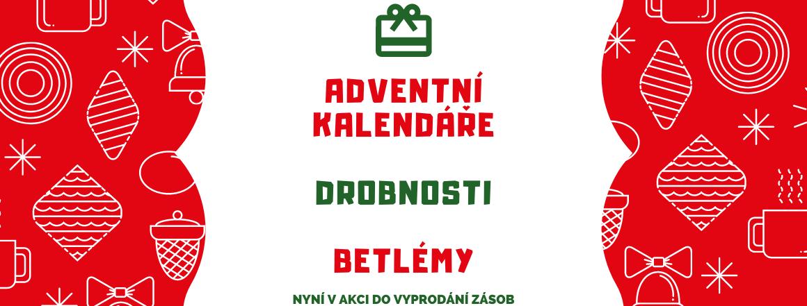 Adventní kalendáře, drobnosti a betlémy v akci do vyprodání zásob