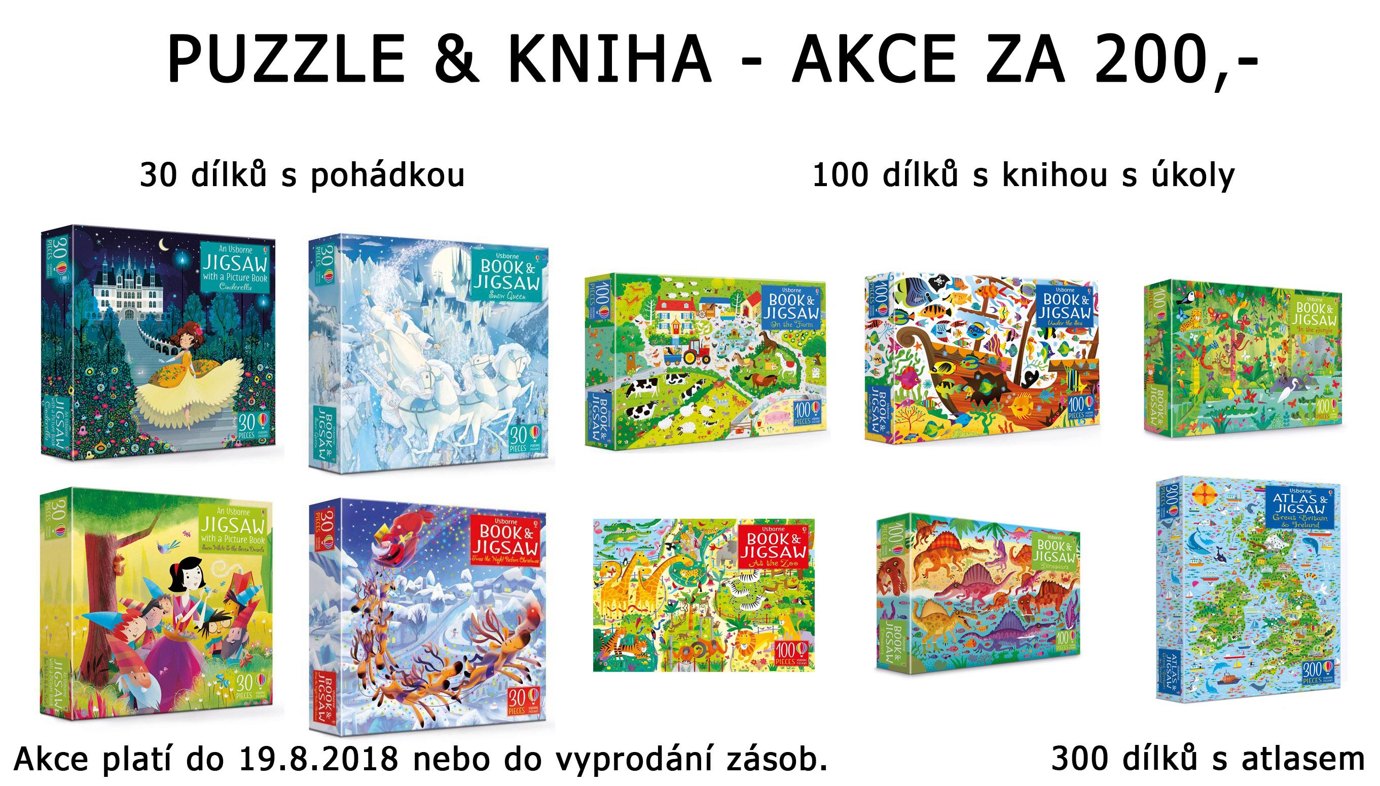 Akce puzzle a kniha za 200,-