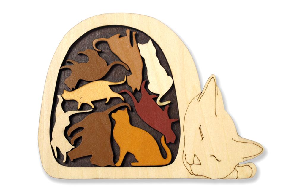 Wooden brainteasers (dřevěné hlavolamy)
