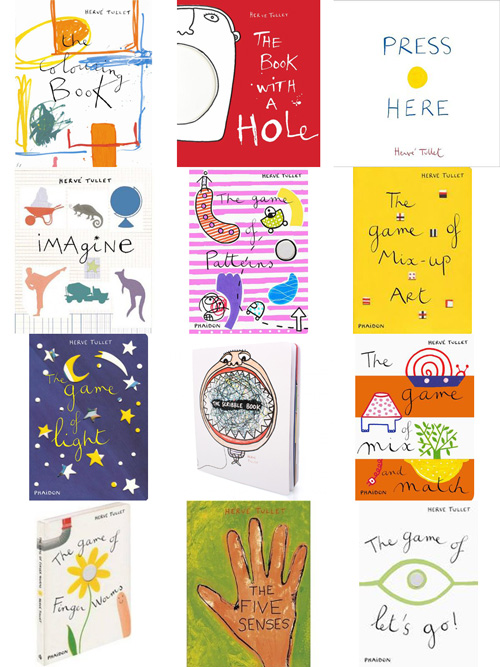 Hervé Tullet´s books (knihy Hervého Tulleta)