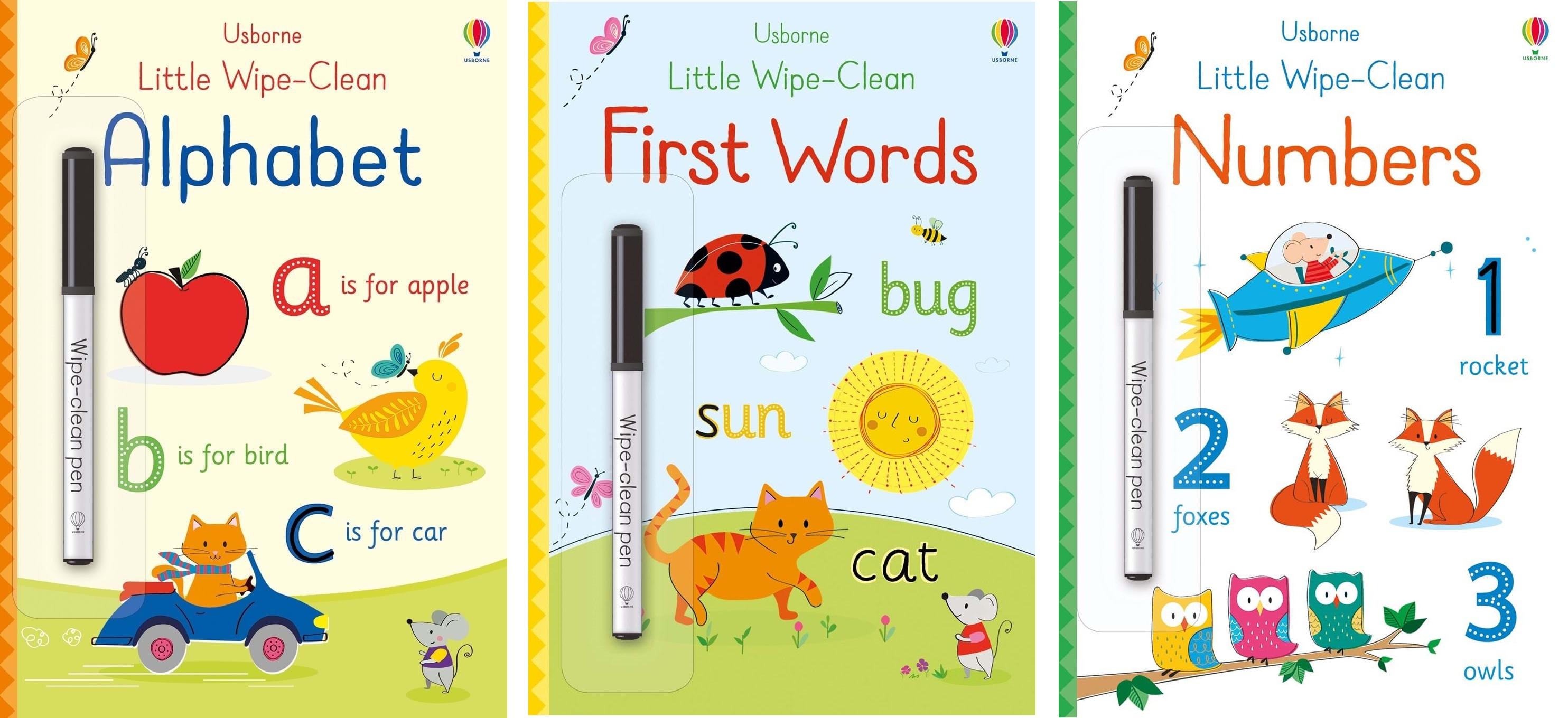Little Wipe-Clean Books (malé mazatelné sešity)