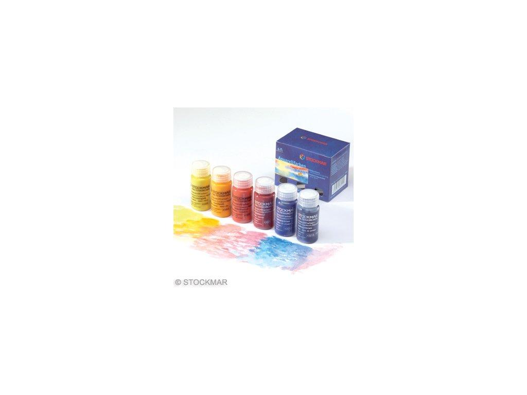 Sada Stockmar akvarelek, balení 6x20ml, základní barvy