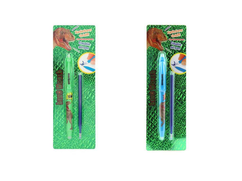 Dino World - Mazatelné gelové pero (2 druhy) (Barva Zelené)