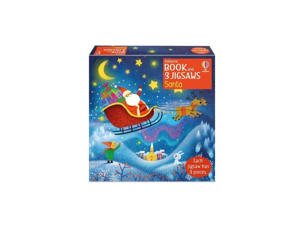 Book and 3 Jigsaws Santa 1