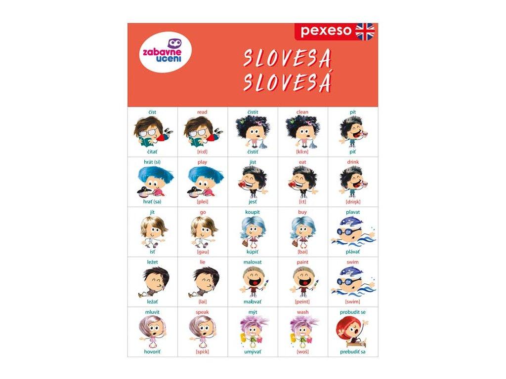 Jazykové pexeso Angličtina Slovesa 1