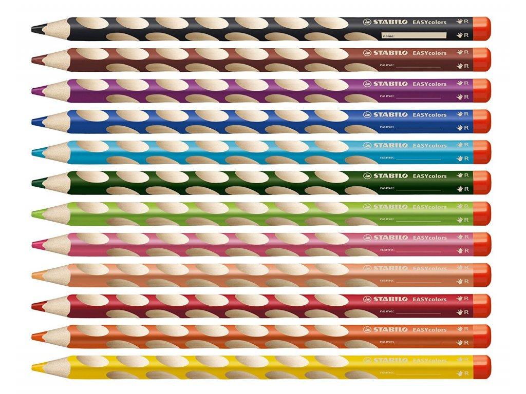 Stabilo EASYcolors pro praváky 12 ks