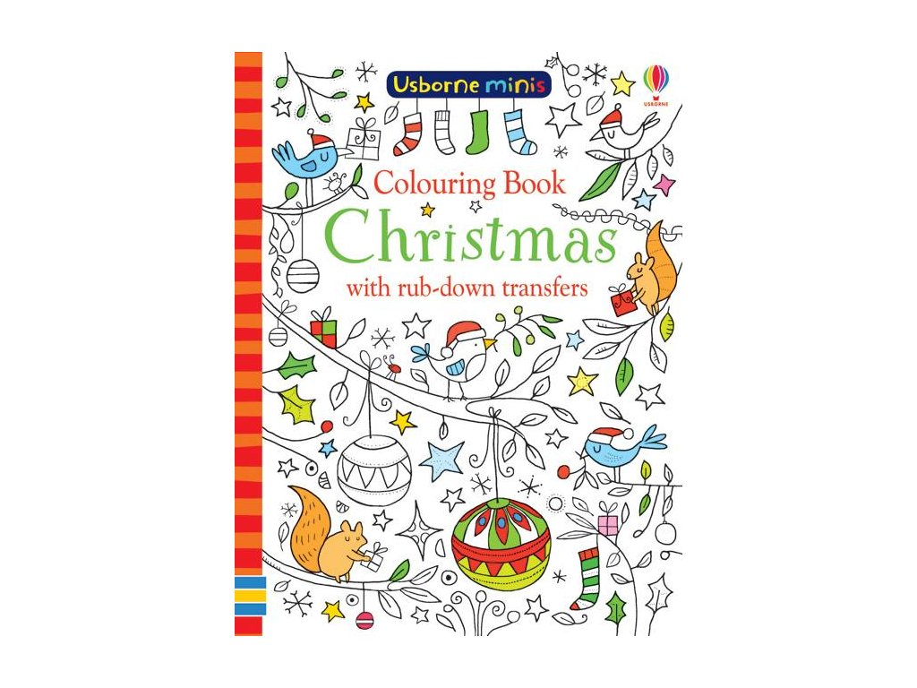 Colouring Book Christmas with rub down transfers