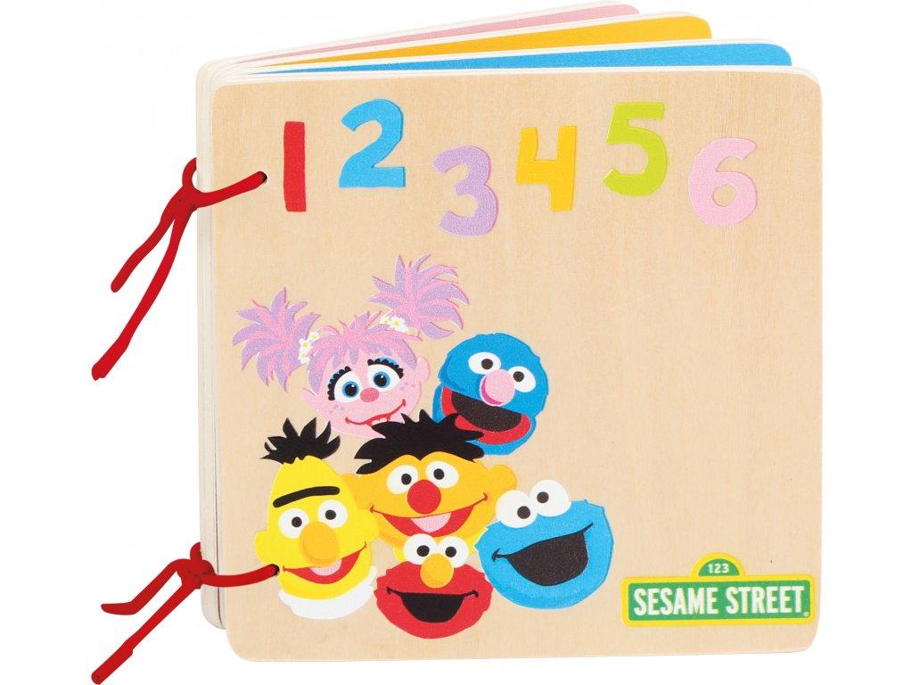Dřevěná kniha SESAME STREET čísla a barvy 2