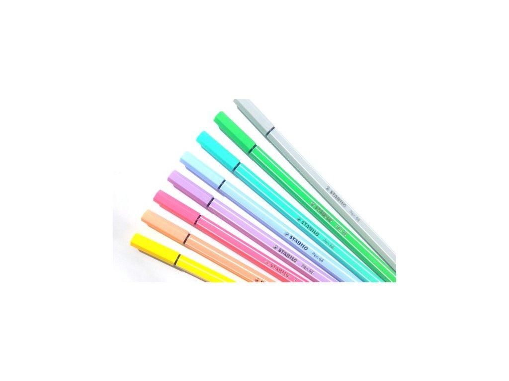 STABILO Pen 68 - vláknový fix - pastelové barvy (1 ks) (Barva švestková)