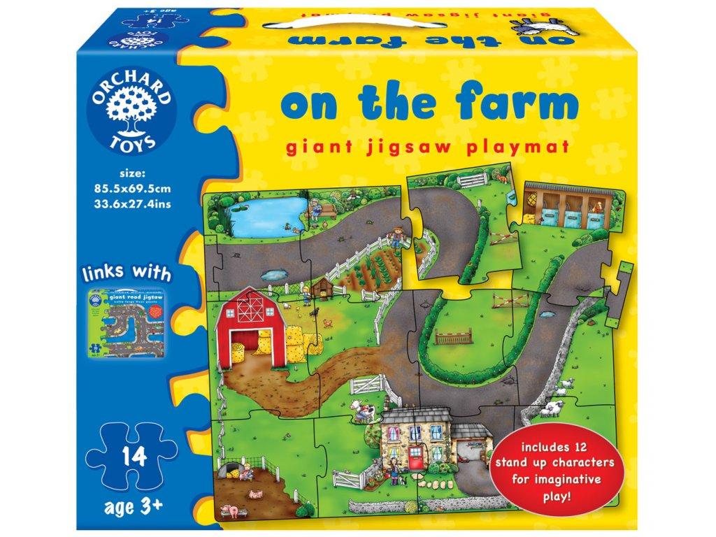 Puzzle Silnice farma 14 dílků 1