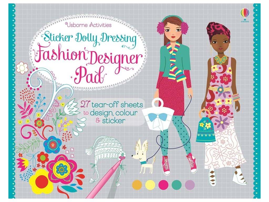 Sticker Dolly Dressing Fashion designer pad 1
