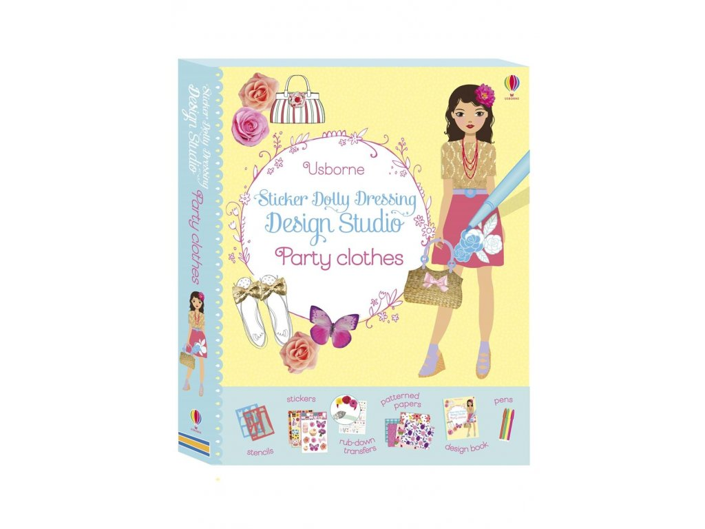 Sticker Dolly Dressing Design Studio Party Clothes 1
