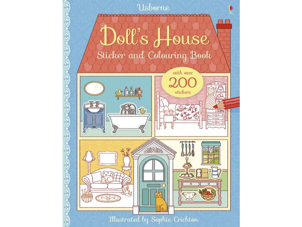 Doll's house sticker and colouring book 1