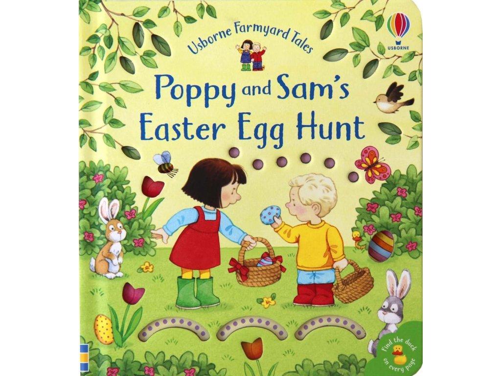 Poppy and Sam's Easter egg hunt 1