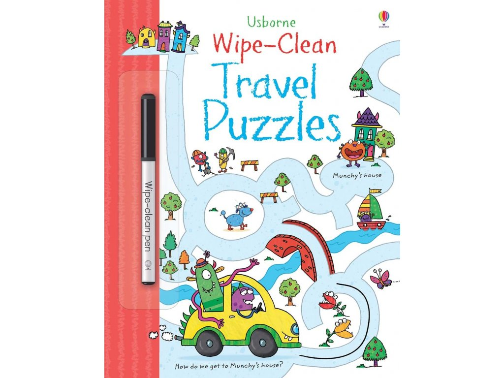 Wipe clean travel puzzles