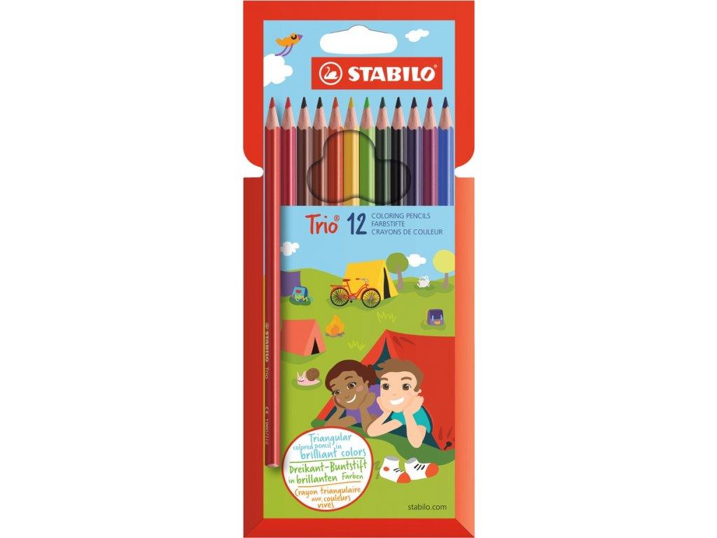 STABILO Trio - trojhranné pastelky (12 ks/18 ks) (Druh 18 ks)
