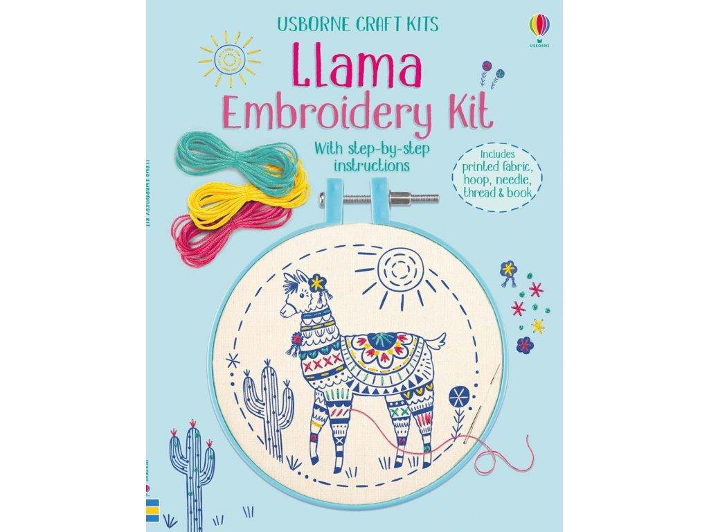 Embroidery kit Llama