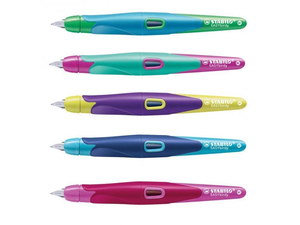STABILO EASYbirdy R - plnicí pero pro praváky (Barva tyrkysová/neonově růžová)