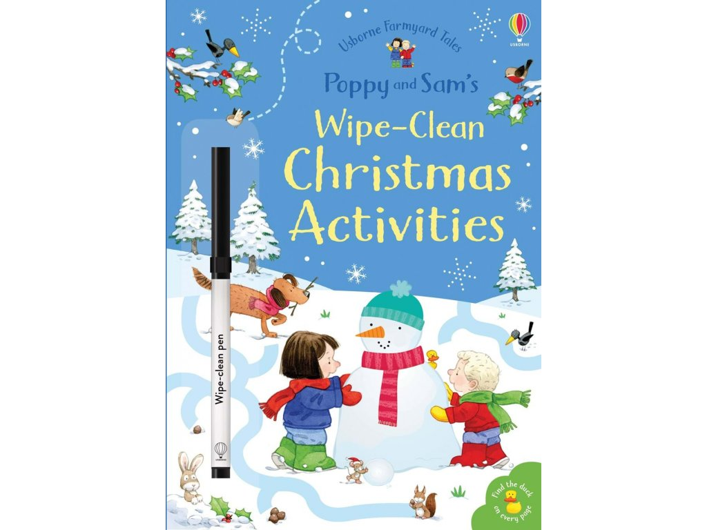 Poppy and Sam's wipe clean Christmas activities