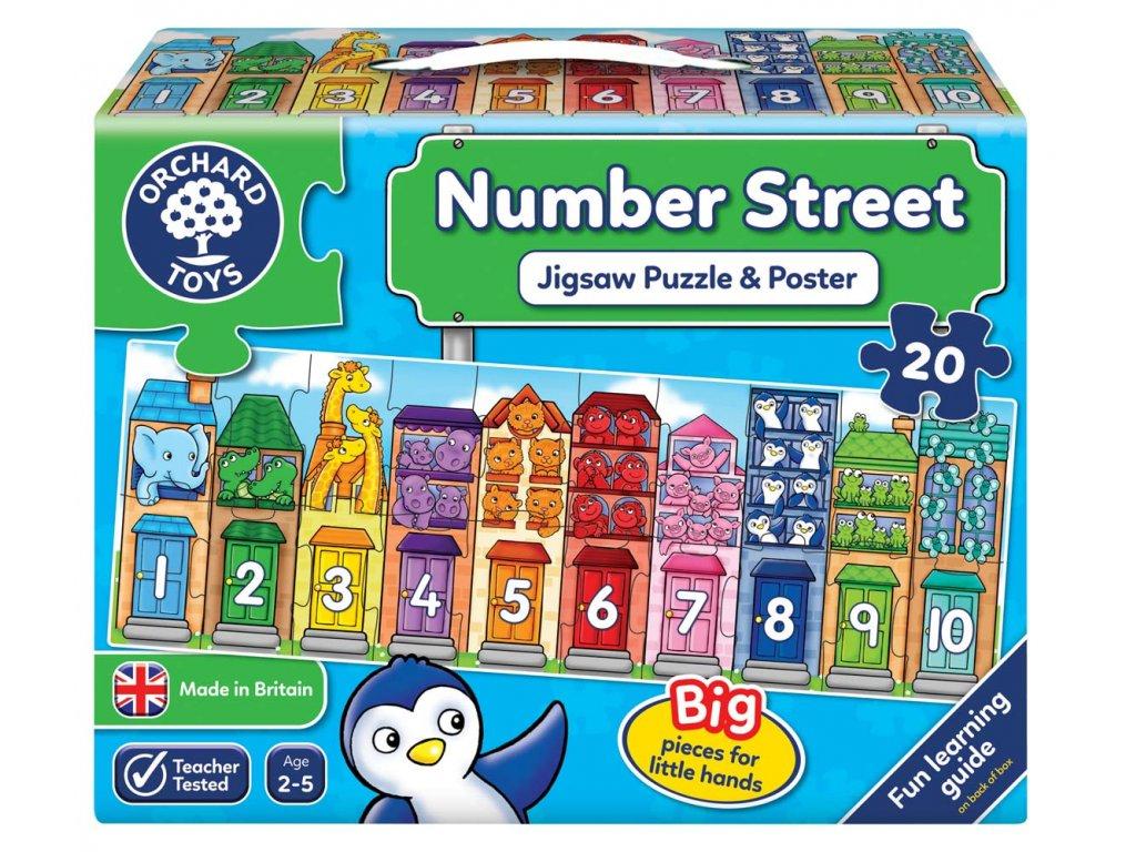 Vzdělávací hra Ulice plná čísel 1