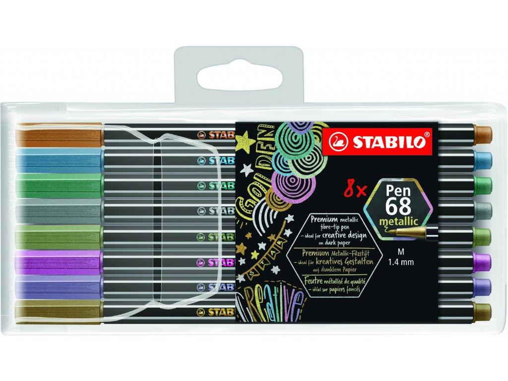 STABILO Pen 68 metallic 8 ks Plastové Pouzdro