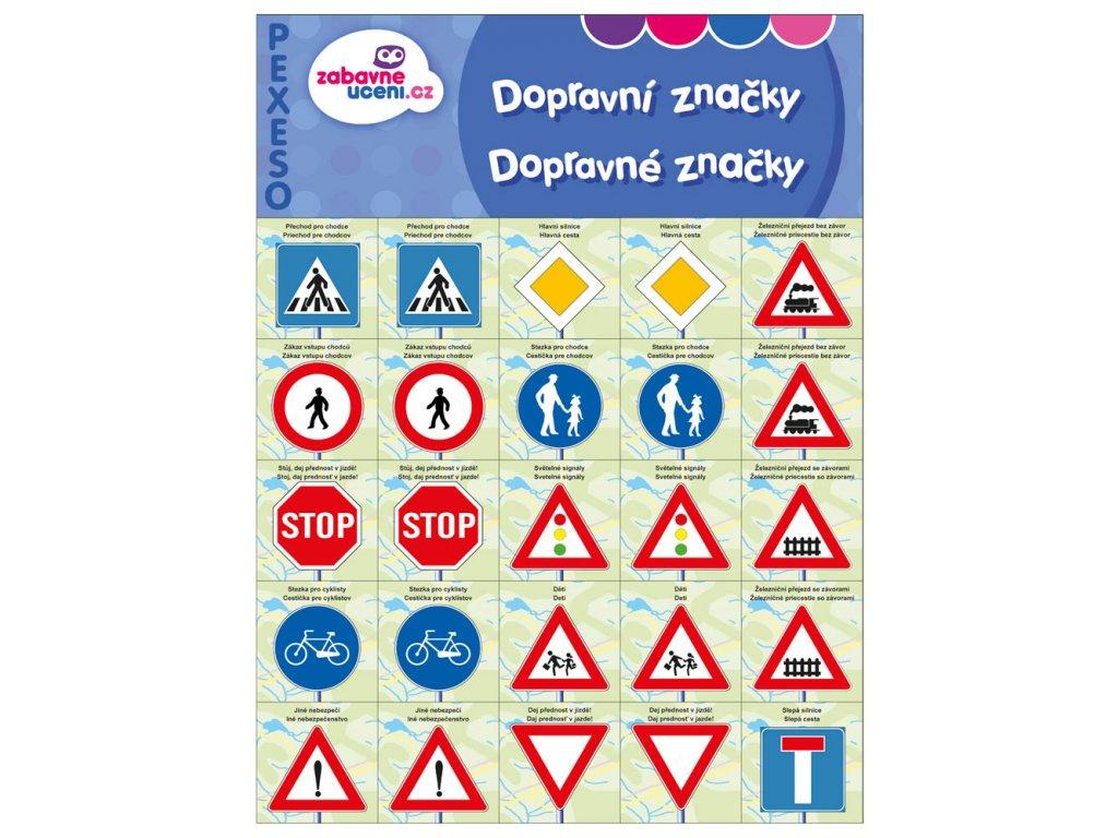 Zábavné učení Pexeso Dopravní značky 1